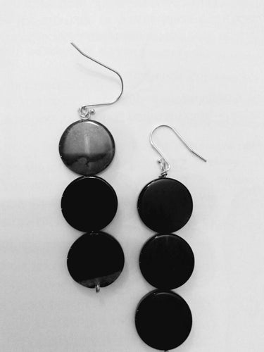 Black agate drop earrings
