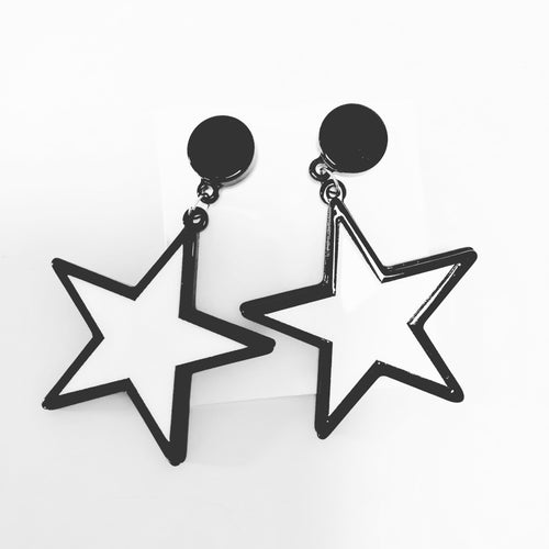 Star 'gogo dancer' earrings