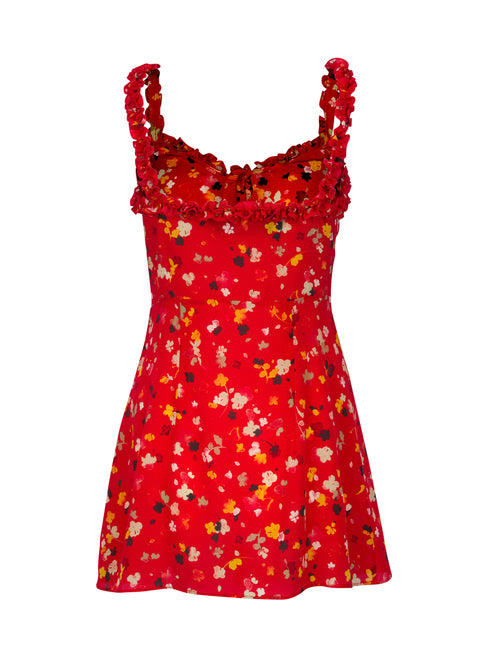 c7d3dbf3640 The Julia - Rouge Fleur – Hire a Dress NZ
