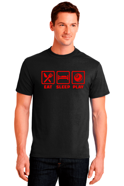 Eat Sleep Play Pool Cotton Tee - BODIEWEAR