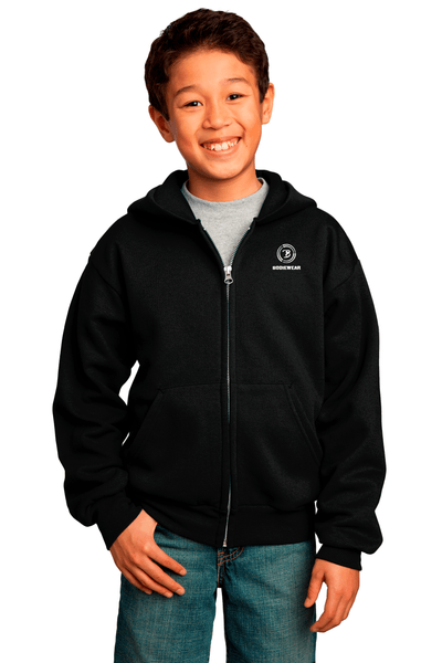 Bodiewear Youth Full-Zip Hooded Sweatshirt - BODIEWEAR