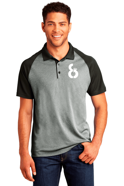 Raglan Heather Block Polo