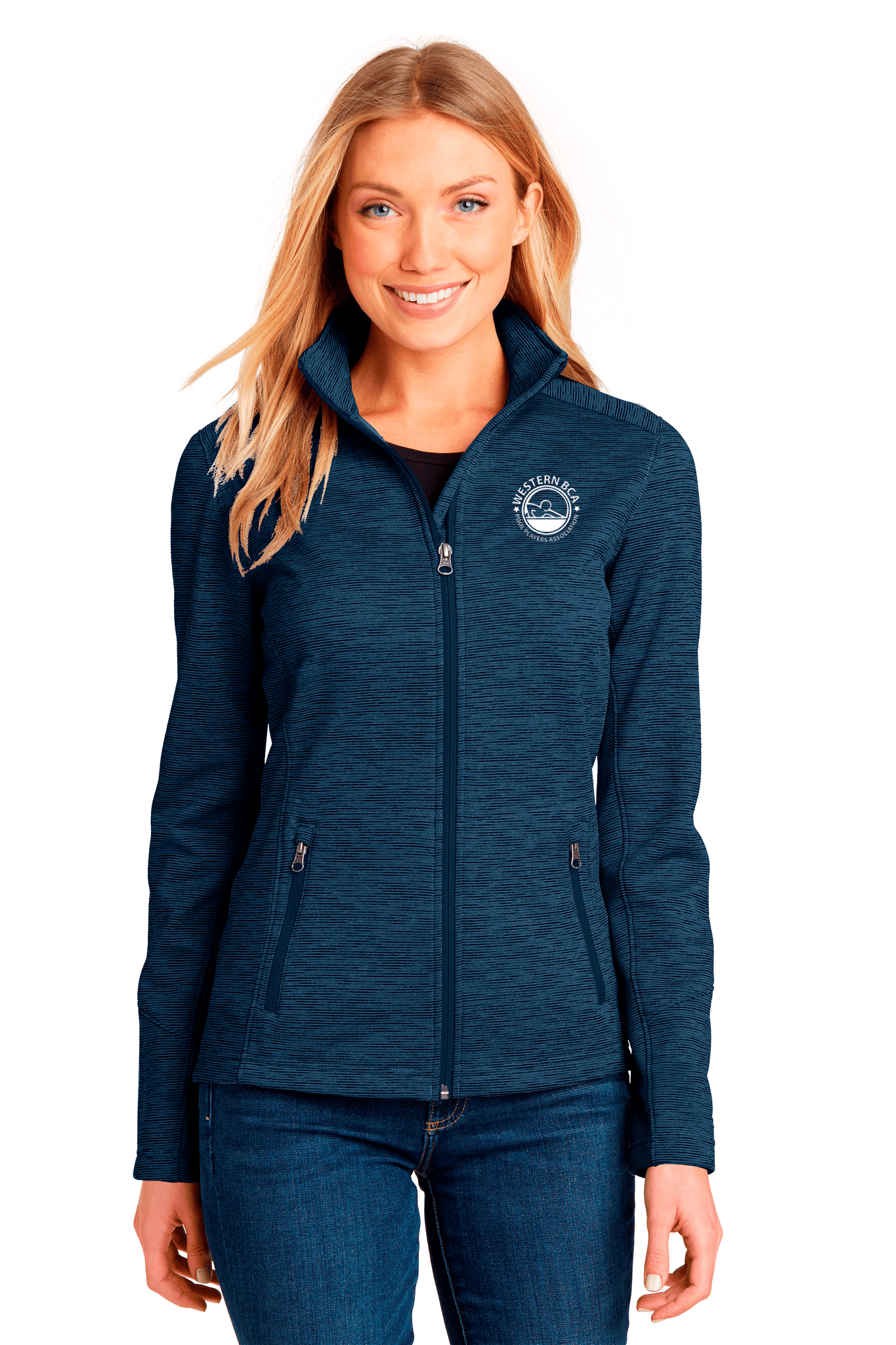 WBCA Ladies Digi Stripe Fleece Jacket