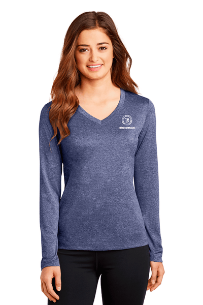 Bodiewear Long Sleeve Heather V-Neck - BODIEWEAR
