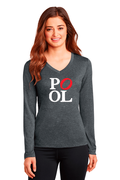 Long Sleeve Heather V-Neck