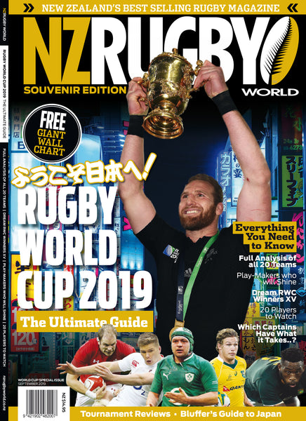 NZ Rugby World WORLD CUP 2019 GUIDE (INCLUDES FREE WALL PLANNER!) $14.95 + postage and packaging (go to checkout to find out the shipping costs for your country)