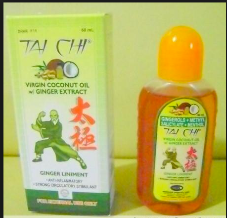 3 bottles Tai Chi Ginger Virgin Coconut Oil W/ginger extract, 60 ml