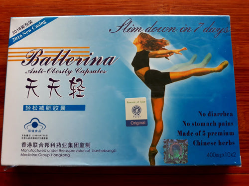 Ballerina Anti Obesity/Slimming Capsules in Box, 400mgx20 cap