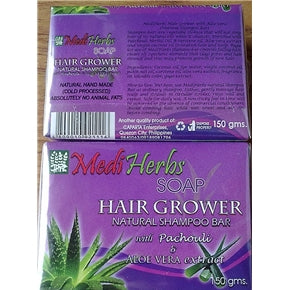 HAIR GROWER restorer herbal SHAMPOO SOAP w/ aloe vera, 150grams, 2 pcs