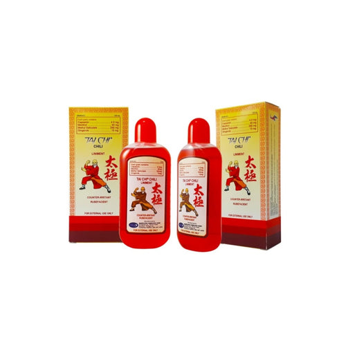 3 bottles Tai Chi Ginger Virgin Coconut Oil W/CHILI  extract, 60 ml