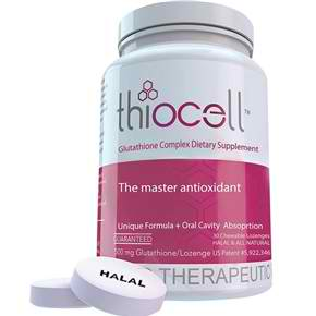 Thiocell Glutathione Lozenges 500mg x 30 capsules