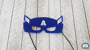 Captain Comic Book Inspired Mask SINGLE