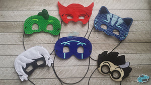 Kid Heroes and Villains Mask set of SIX - Save 25% - Pretend play, dress up, masks, imagination toy