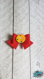 Super Magic Girl, Sailor Inspired 3D Felt Bow, Hair Accessory, Moon, Planet, Space, Magical