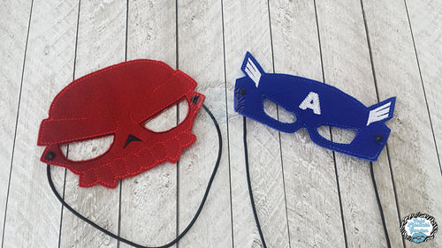 Captain & Red Skull Comic Book Inspired Mask SET OF TWO