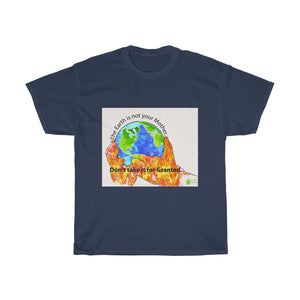 "Eco Tee - ""Earth is not your mother"" Green quote Unisex T-Shirts, Men cotton tee, women round neck tshirt"