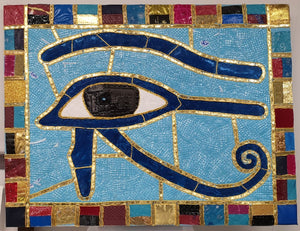 "Upcycle Art Piece - ""Eye of Horus"""