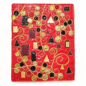 "Upcycle Art Piece - ""Klimtic Red"""