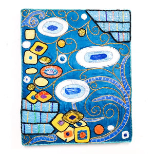 "Upcycle Art Piece - ""Klimtic Blue"""