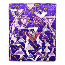 "Upcycle Art Piece - ""Klimtic Purple"""
