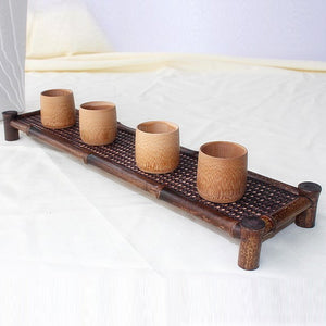Bamboo Tea Tray Kung Fu Tea Rectangle Trivets Bamboo Wood Japan Style