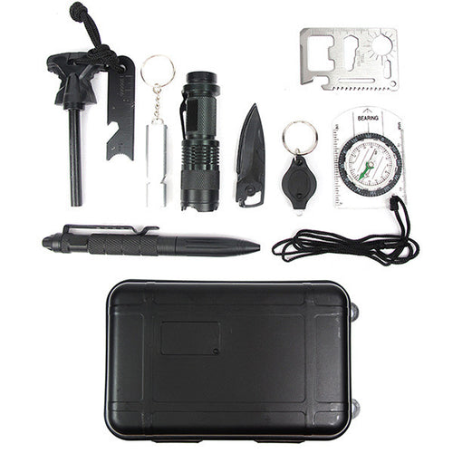 Emergency Survival Kits 10 in 1 multi-purposes tools outdoor camping home emergency