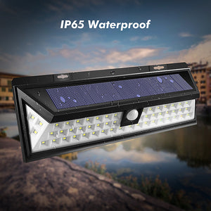 Solar Power LED Light Waterproof 54 LED 2835 SMD White Outdoor Garden Lamp Motion Sensor 3.7V