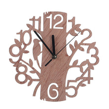 Wooden Clock 3D DIY Tree Shape Wall Clock Needle Clock for Living Room Home Decor