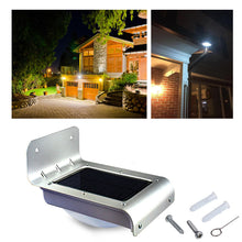Solar Power LED Light Waterproof 24 LED Motion Sensor Outdoor Garden amp Wall Mount