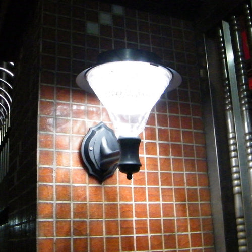Solar Power LED Light Garden Lamp Sensor Wall Mounted Outdoor Waterproof Luminaria Battery