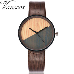 Wooden Watch 2017 Fashion Luxury Women Watch Vintage Leather Band Quartz Wristwatch