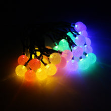 Solar Power LED String Light 30 Bubble Ball 6M Waterproof Holiday Light Christmas Party Decor Lamp