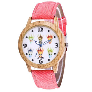 Wooden Watch Women Men Colorful Dial Wristwatch Analog Quartz Bracelet