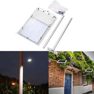 Solar Powered LED Street Light Ultra-Thin Waterproof Sensor Wall Street Light Outdoor