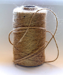 Natural Jute String 600 yards of 1mm Twine Gift Tag String Cord- Eco Friendly 100 % Natural