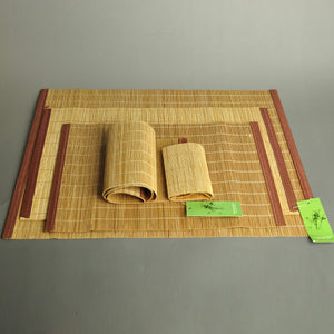 Bamboo Table Mat Cup Coasters 7-9 users Tea Size Pad Tableware Natural Bamboo