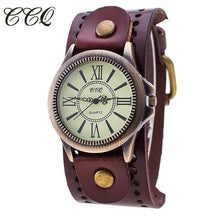 Cow Leather Watch Vintage Quartz Watch Men Women Wristwatch Antique Bronze Dial CCQ Brand l