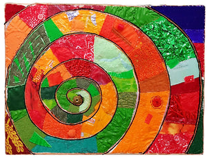 "Upcycle Art Piece - ""Spiral"""