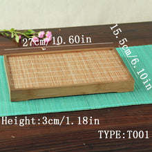Bamboo Kung Fu Tea Tray Fruit Pallet Waterproof Water Double Layer Vintage Deco