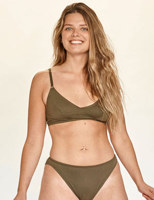 Scoop Bra - Olive