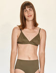 Triangle Bra - Olive