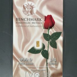 1/60 Gram Pure .999 Fine 24k Gold 3mm X 6mm A Rose Shows Love or Caring (White)