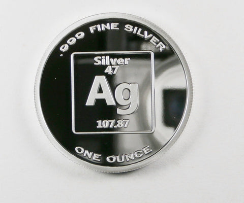 Pure Silver 1 Ounce 99.99 Fine 1 Ounce Proof Element Design