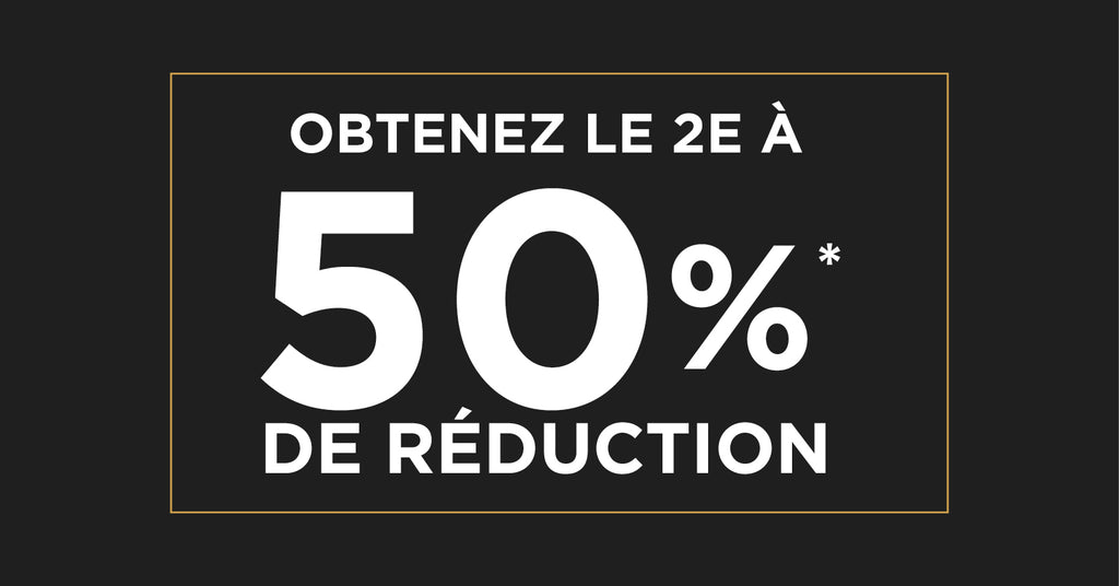 2e item à 50% de réduction
