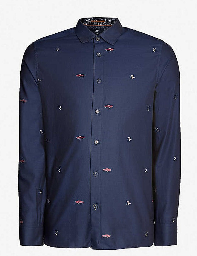 Chemise manches longues sport TED BAKER - 148337 NAVY
