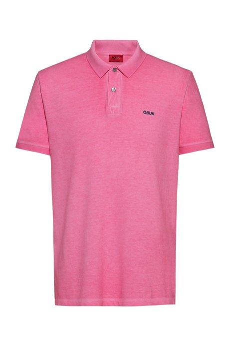 Polo manches courtes sport HUGO - 50425771 BRIGHT PINK