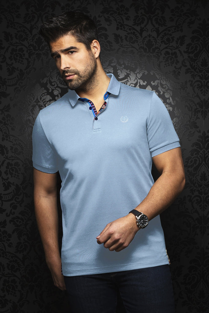 Polo Au Noir - EAGLE light blue