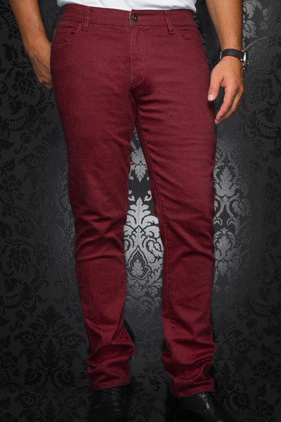 Jeans Au noir - JOHNNY-C burgundy