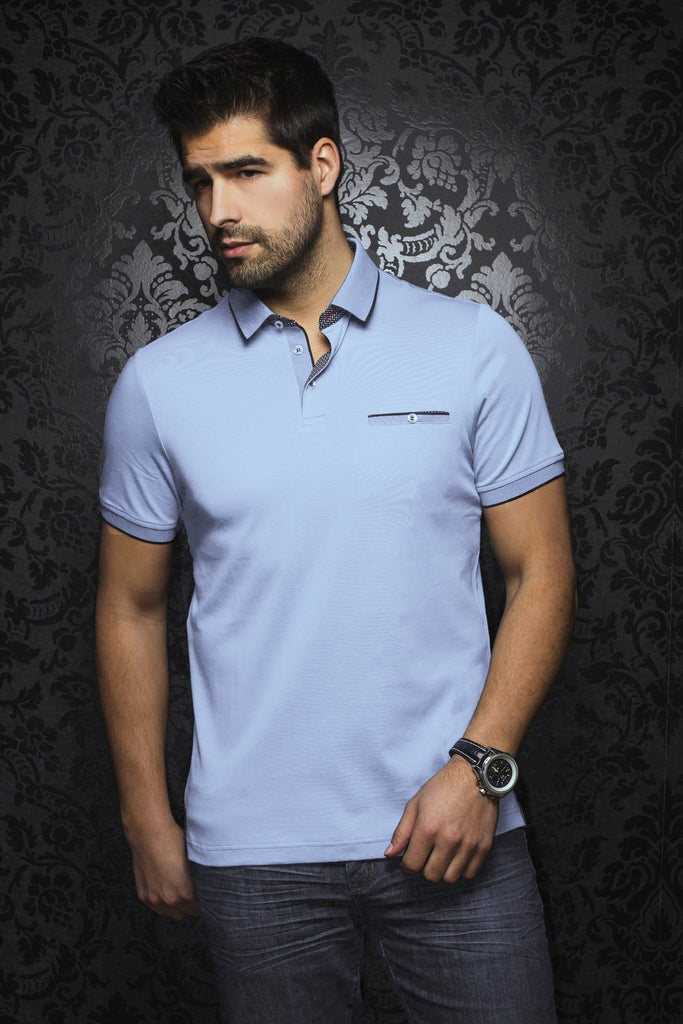 Polo Au Noir - MERCURY light blue