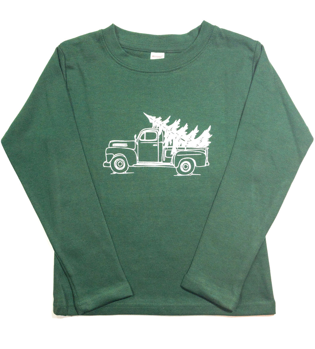 Christmas Tree Truck Green — bright and durable children's clothes, with love from Tennessee!